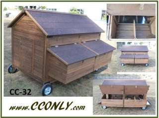 Backyard stealth chicken coop building plans city chicks for Mobile hen house plans