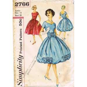 Simplicity 2766 Vintage Sewing Pattern Womens Cocktail Dress