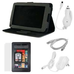 Degree Rotating Folio Leather Case with Built in Stand + LCD Screen