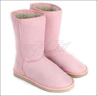 Women Flats Heels Winter Warm Mid calf Snow Boots Shoes NEW