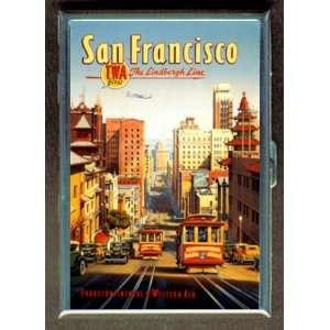 KL SAN FRANCISCO RETRO TROLLEY ID CREDIT CARD WALLET CIGARETTE CASE