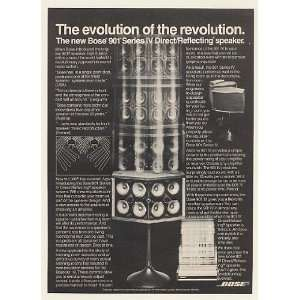 1978 Bose 901 Series IV Direct/Reflecting Speaker Print Ad