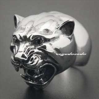 and Heavy Cougar Lion 316L Stainless Steel Mens Ring 3S001 Biker Ring