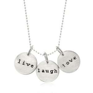 Live, Laugh and Love Necklace in Sterling Silver Jewelry