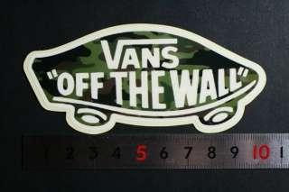 VANS OFF THE WALL SKATEBOARD SURFBOARD GUITAR DECORATIVE VINYL STICKER