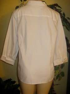 Coldwater creek spring no iron white shirt top XL 1X 2X