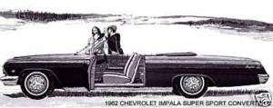 1962 CHEVROLET IMPALA SUPER SPORT CONVERTIBLE ~ MAGNET