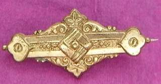 BEAUTIFUL ART NOUVEAU BROOCH JEWELRY ANTIQUE GERMAN i35