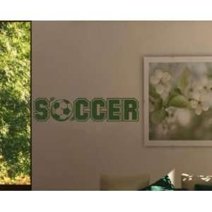 Soccer Soccer Ball Sports Vinyl Wall Decal Sticker Mural Quotes Words