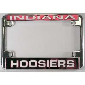 Indiana Hoosiers Chrome Motorcycle RV License Plate Frame