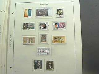 GERMANY COLLECTION ON SCOTT INTERNATIONAL PAGES 84