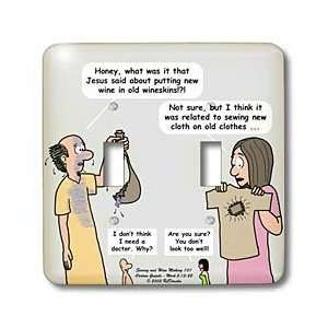 Funny Cartoon Gospel Cartoons   Mark 02 13 22 Sewing and Wine Making