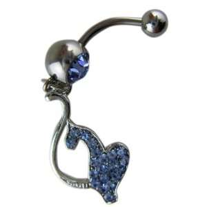Belly Button Navel Ring Bar Silver   Baby Phat   Blue Toys & Games