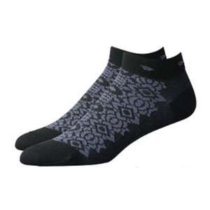 DeFeet Womens Speede Chantilly Lace Midnight Cycling/Running Socks