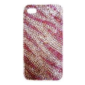 Zebra Animal Print Pattern Design Bling Apple IPhone 4 Case Cover