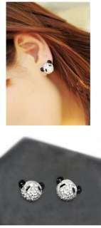 New Korean Style full rinestone Bear Earring E 109