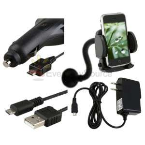MOUNT+USB+CAR+Wall CHARGER FOR HTC DROID INCREDIBLE HD2