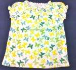 NWT OLD NAVY GIRLS BUTTERFLY SHIRT TOP Ruffled Henley u pick size