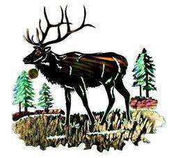 New Large 3D ELK METAL WALL ART Western Lodge Decor Country Rustic