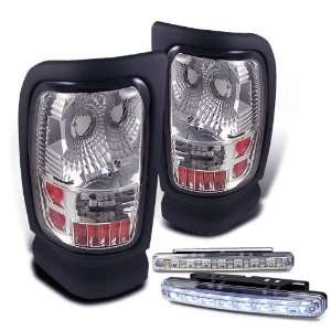 Eautolights 94 01 Dodge RAM Chrome Clear Tail Light 95 97 98 00 Brand