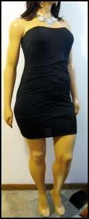Dori Black Strapless Mini Club Dress   Choose your size XL 12/14 or 3X