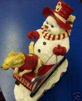Oklahoma Sooners Dashing Through the Snow Henry on Sled Collectible