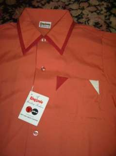 VTG Atomic King Louie Polyester Bowling Shirt NOS Med