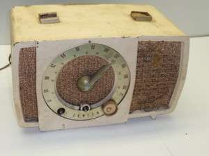 Antique Zenith Plastic Clock FM Tube Radio Model T724 Broken? Parts or