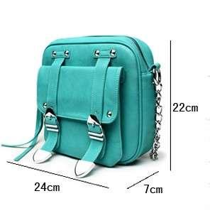 Faux Leather Shoulder Bag Purse Handbag Satchel 3 color