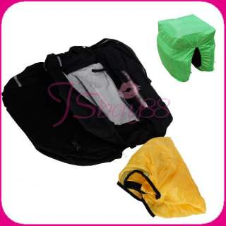 Waterproof Bike Bicycle Cycling Rear Seat Pannier Storage Bag W/ Rain