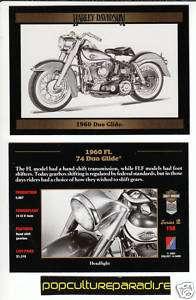 1960 HARLEY DAVIDSON FL 74 DUO GLIDE MOTORCYCLE CARD