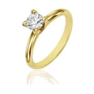 25cttw Natural White Round Diamond (I1 Clarity, H I Color) Solitaire