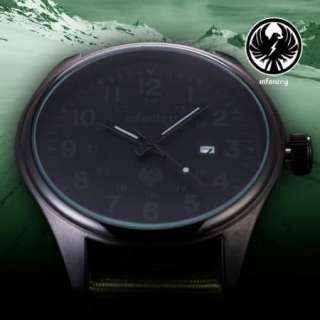 New INFANTRY Army Swiss Design Canvas Strap Mens Military Date Sports