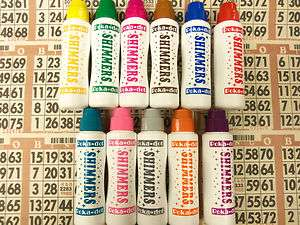 36PK OF SPARKLE/SHIMMER BINGO DAUBERS HOT NEW COLORS