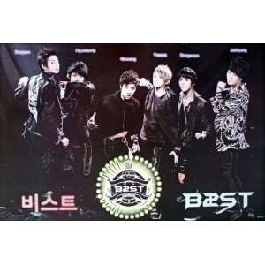 B2ST lineup horiz black POSTER 34 x 23.5 Korean boy band B