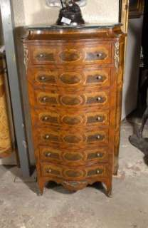 French Walnut Louis Philippe Tall Boy Chest Commode