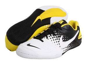 Nike 5 Elastico Indoor Soccer Shoe 415131 071 White/Black/Yellow