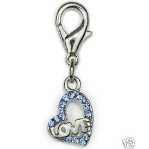 Aria Hearts of Love Dog Cat Pet Collar Charm BLUE Kitchen