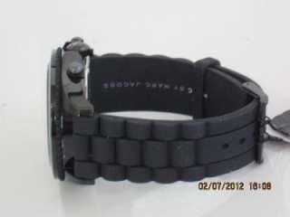 Marc by Marc Jacobs MBM5502 Mens Chronograph Black Silicone Bracelet