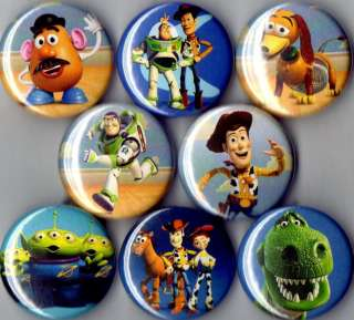 Toy Story 8 pins buttons badges woody buzz lightyear
