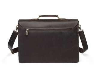 Large Rustic Leather Briefcase Messenger Bag Laptop Case Attache