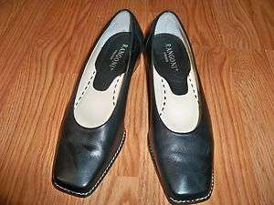 RANGONI FIRENZE *ITALY* BLACK LOW HEEL SHOES 5M AWESOME