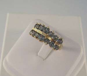 10kt Yellow Gold Blue Topaz Ring Band 3.6 Grams Size 6 Not Scrap