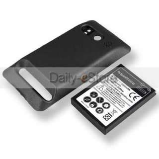 3500mAh Extended Battery Back Cover + Dock charger for Sprint HTC Evo