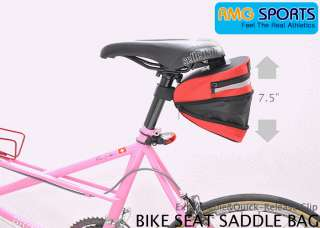 Bike Seat Saddle Bag for Acc,IPOD,Tool,Phone,Wallet RED