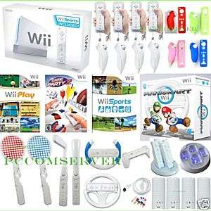 NEW NINTENDO 1 WII MARIO KART 26 GAMES 4 PLAYERS BUNDLE 045496880491