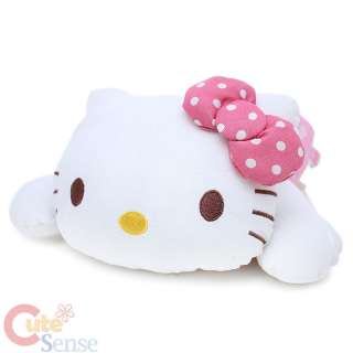 Hello Kitty Cuddle Bed Pillow in Pink Dress Talking on Phone