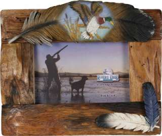 Beautiful Fir Wood Canadian Goose Duck Hunting Picture Frame
