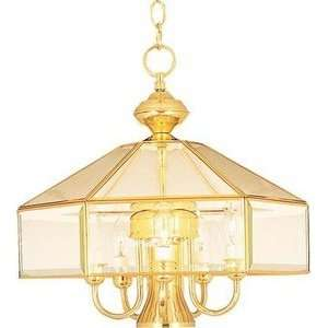 90331CLCS 6 Light Pendant Country Stone Clear Glass