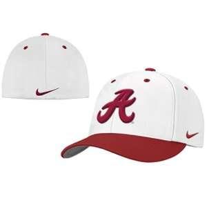 Nike Alabama Crimson Tide White Fitted Hat Sports